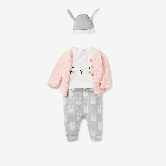 Novelty Bunny Bodysuit  CANVAS  hi-res