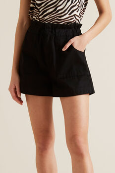 Relaxed Patch Pocket Short  BLACK  hi-res