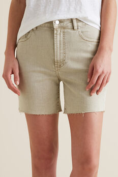 Frayed Denim Short  RICH MOSS DENIM  hi-res