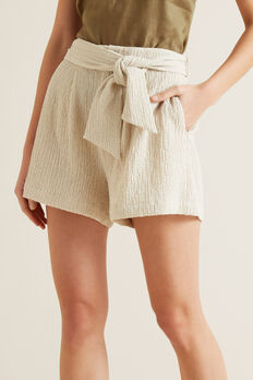 Tie Waist Short  TEXTURED DESERT  hi-res