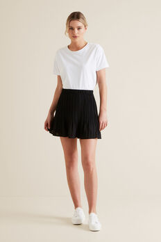 Mini Pleated Skirt  BLACK  hi-res