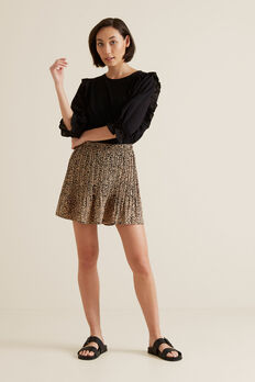 Mini Pleated Skirt  OCELOT  hi-res