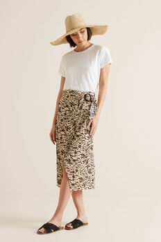 Resort Animal Wrap Skirt  ANIMAL PRINT  hi-res