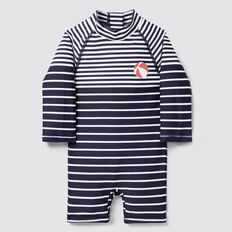 Stripe Rashsuit  MIDNIGHT BLUE  hi-res