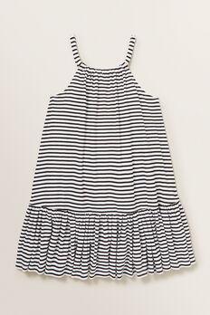 Metallic Stripe Dress  BLACK/WHITE  hi-res