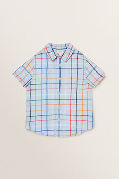 Check Shirt  PALE BLUE  hi-res