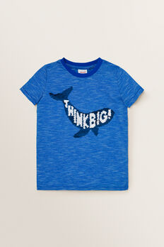 Flip Sequin Tee  BRIGHT COBALT  hi-res