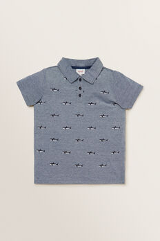 Shark Motif Polo  MIDNIGHT BLUE  hi-res