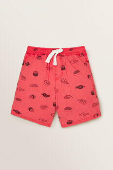 Sushi Yardage Short  RASPBERRY RED  hi-res