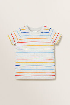 Stripe Tee  WHITE SPECKLE  hi-res