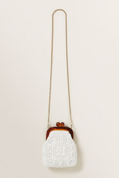 Beaded Purse  WHITE  hi-res