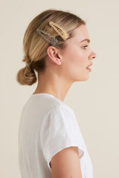 Beaded Hair Clips  MULTI  hi-res