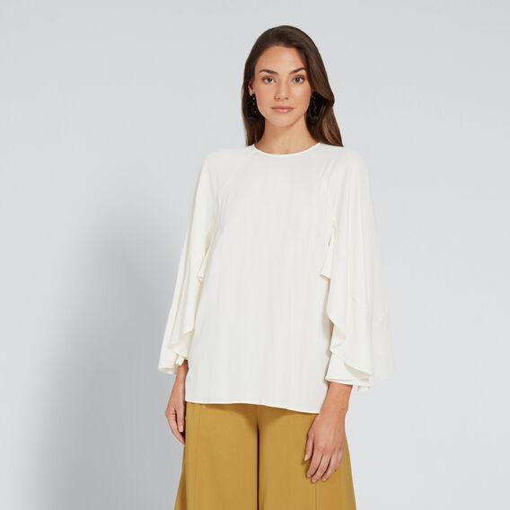 Ruffle Sleeve Blouse  CLOUD CREAM  hi-res