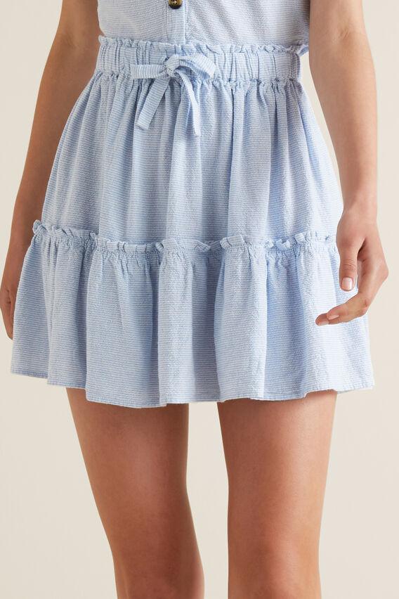 Tiered Skirt  PERIWINKLE  hi-res