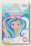 3D Colouring Set Rainbow Dream, MULTI, hi-res