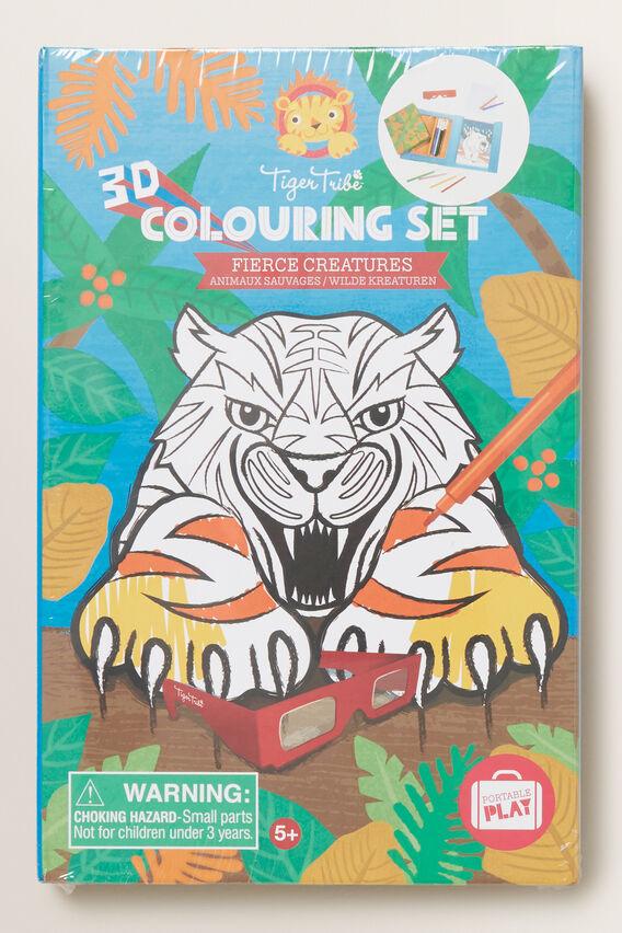3D Colouring Set Fierce Animals  MULTI  hi-res