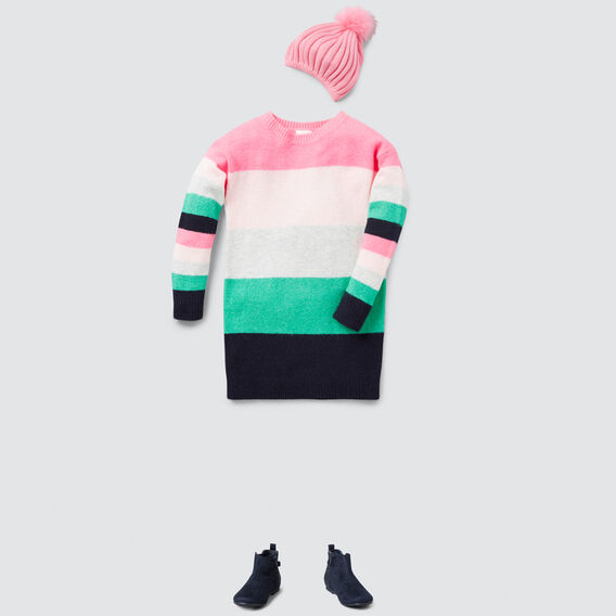 Stripe Knit Dress  MULTI  hi-res