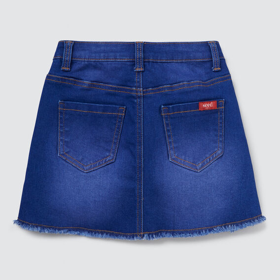 A-Line Denim Mini Skirt  BRIGHT INDIGO  hi-res