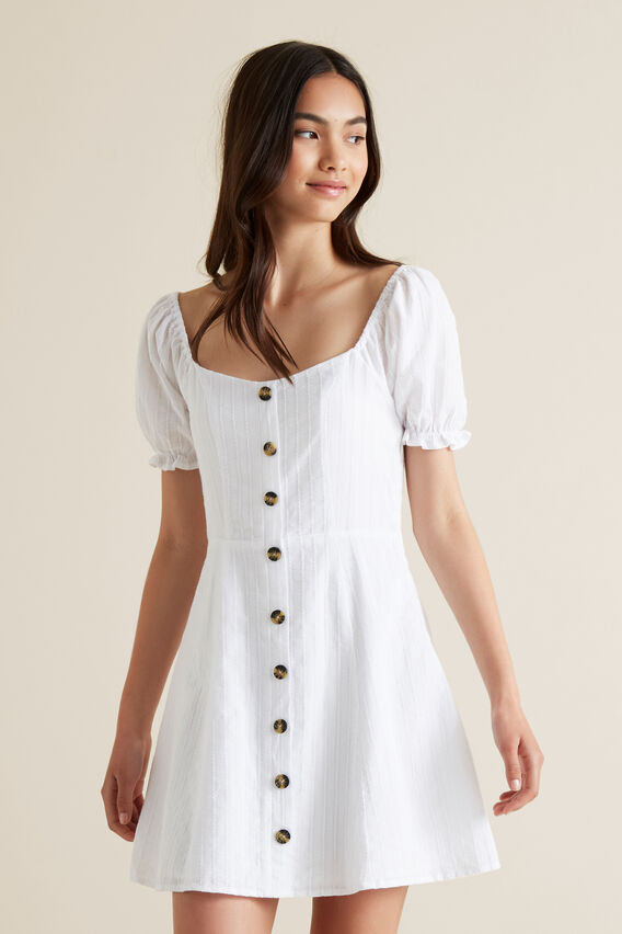 Prarie Dress  WHITE  hi-res
