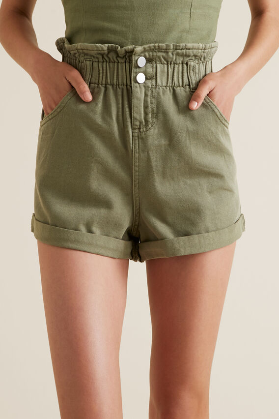 Paperbag Short  PALE KHAKI  hi-res