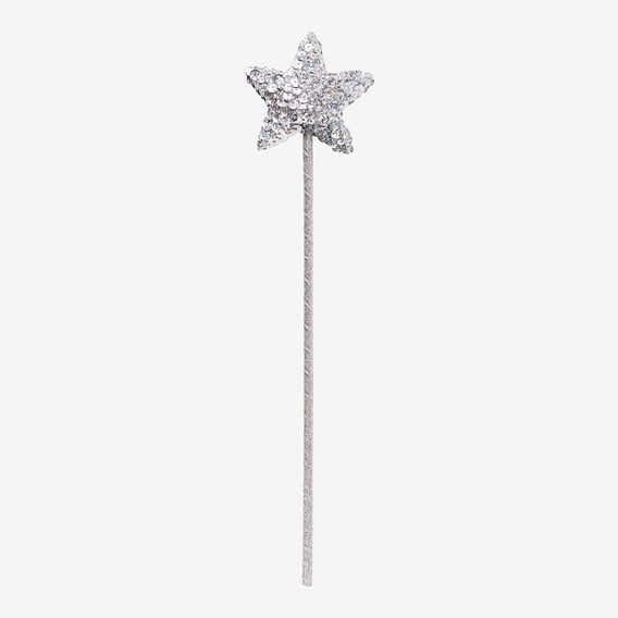 Star Sequin Wand  SILVER  hi-res
