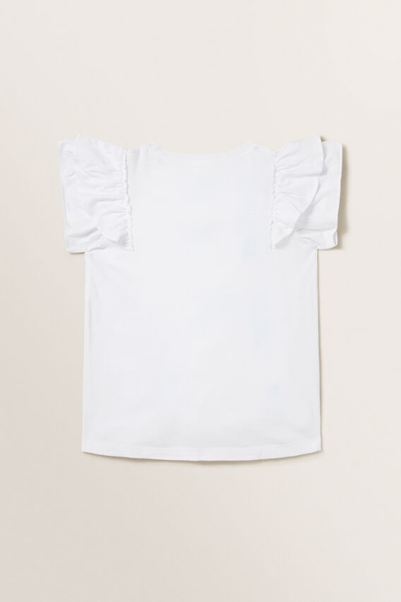 Relaxed Frill Tee  WHITE  hi-res