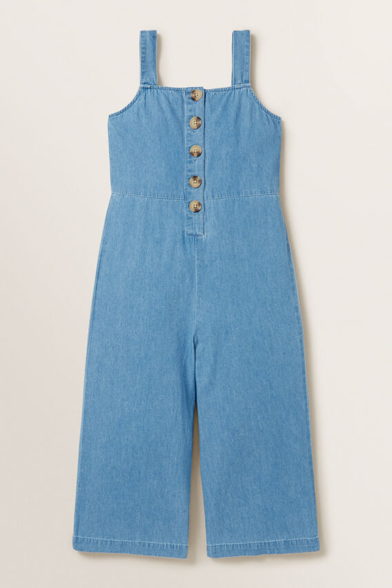 Chambray Jumpsuit  ICE BLUE WASH  hi-res