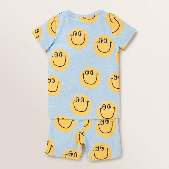 Smiley Pyjama  SLEEPY BLUE MARLE  hi-res
