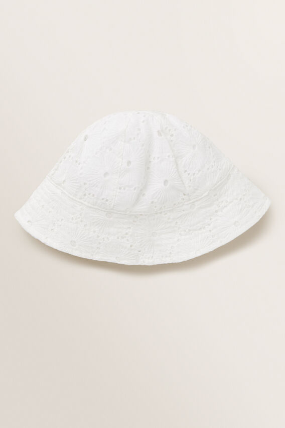 Broderie Sun Hat  WHITE  hi-res