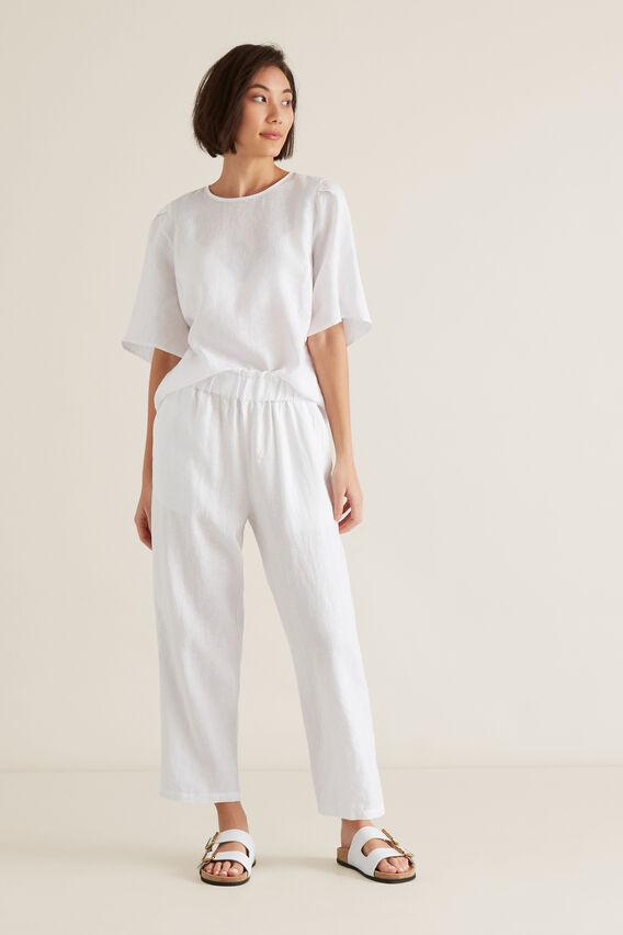 Linen Relaxed Pant  WHISPER WHITE  hi-res