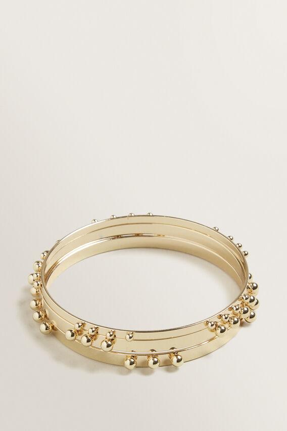 Studded Bangle Set  GOLD  hi-res