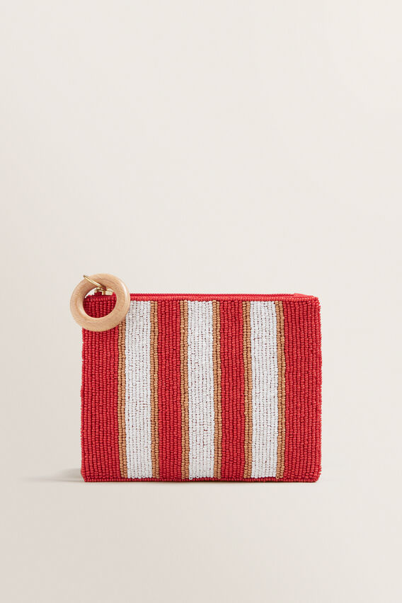 Beaded Pouch  POPPY MULTI  hi-res