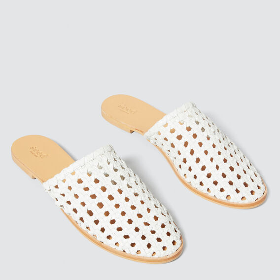 Martha Woven Slide  WHITE  hi-res