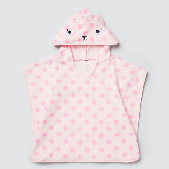 Cat Terry Poncho  ICE PINK  hi-res