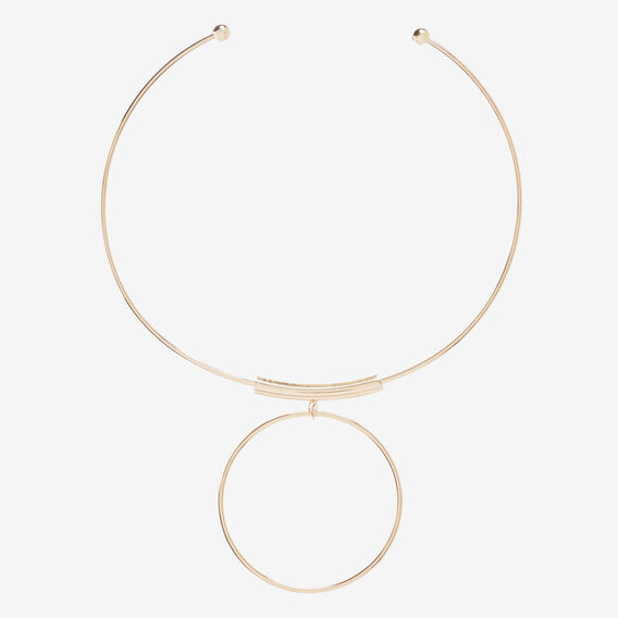 Ring Statement Necklace  GOLD  hi-res