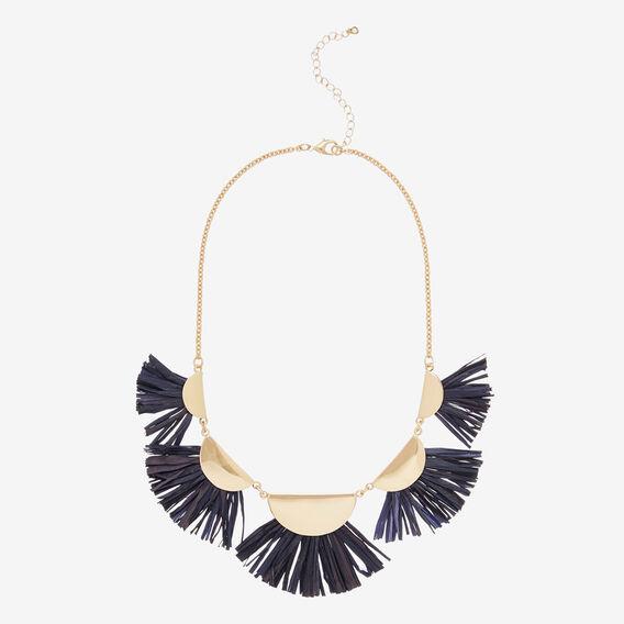 Half Moon Fringe Necklace  NAVY/GOLD  hi-res