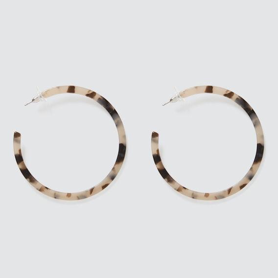 Tort Hoop Earrings  GREY TORT  hi-res