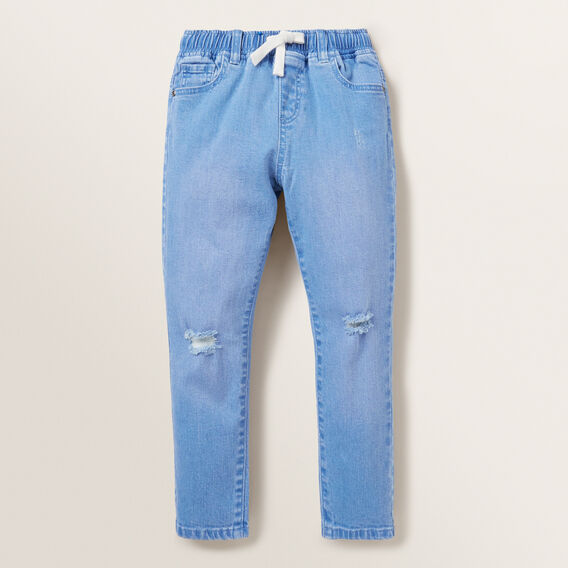 Distressed Jean  FADED BLUE  hi-res