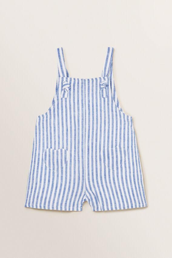 Heart Pocket Dungaree  WHITE/OCEAN BLUE  hi-res