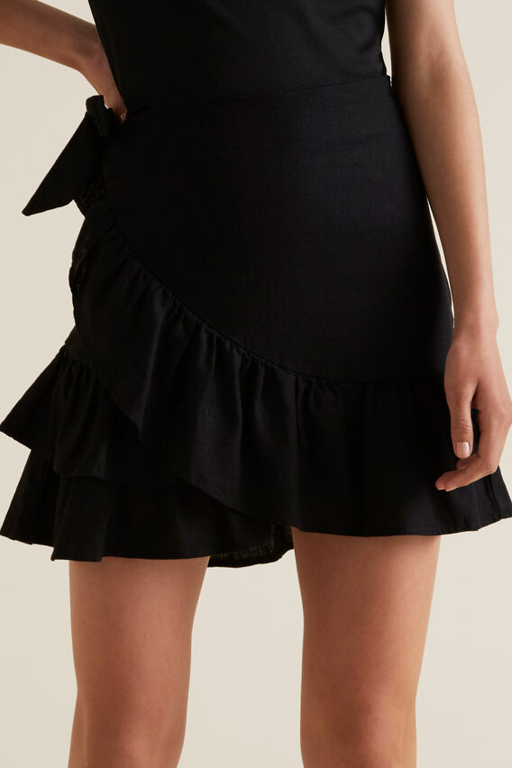 Ruffle Skirt  BLACK  hi-res