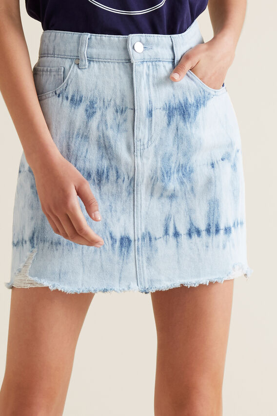 Tie Dye Denim Skirt  MULTI  hi-res