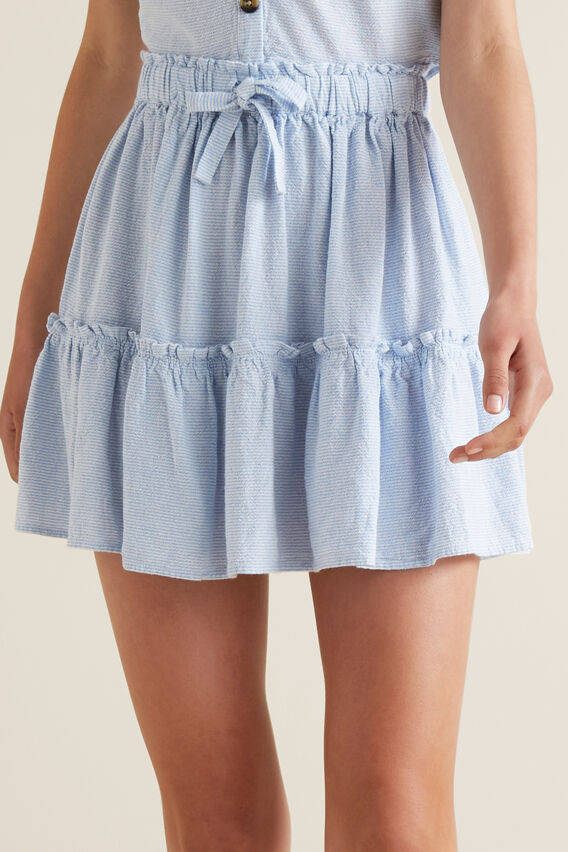 Tiered Skirt  PERIWINKLE  hi-res