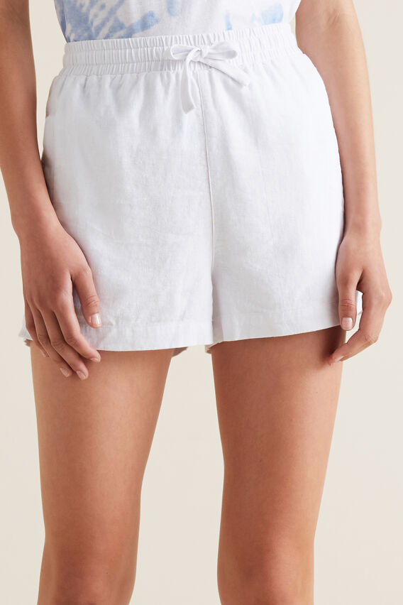 Linen Short  WHITE  hi-res