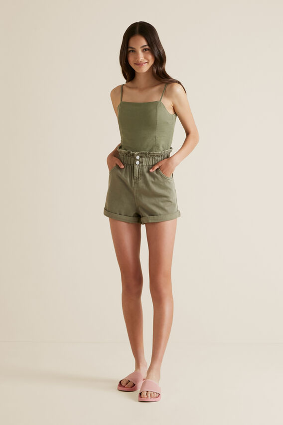 Paperbag Shorts  PALE KHAKI  hi-res