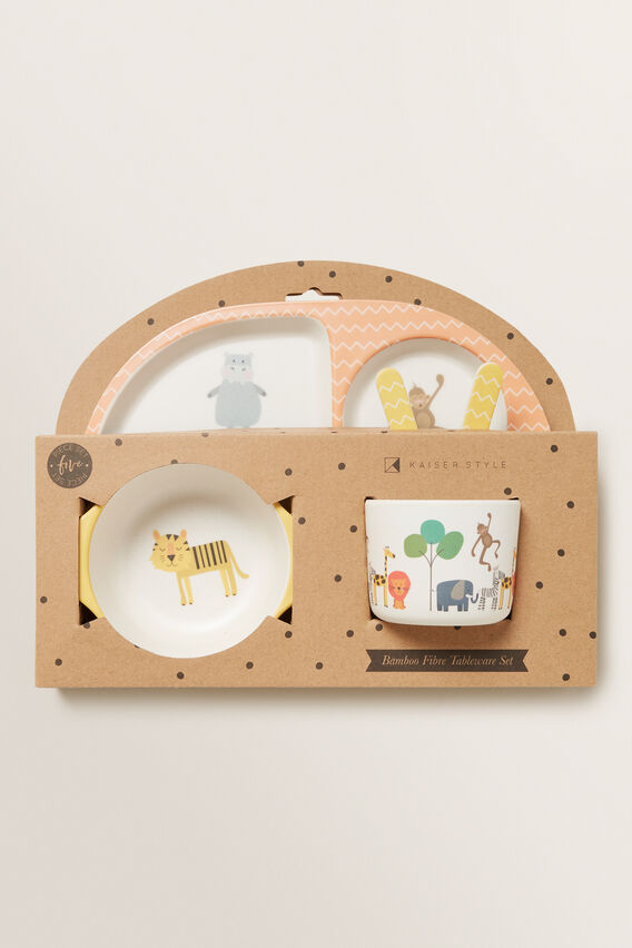 Safari Baby Plate Set  MULTI  hi-res