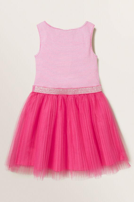 Pleat Tutu Dress  FUCHSIA  hi-res