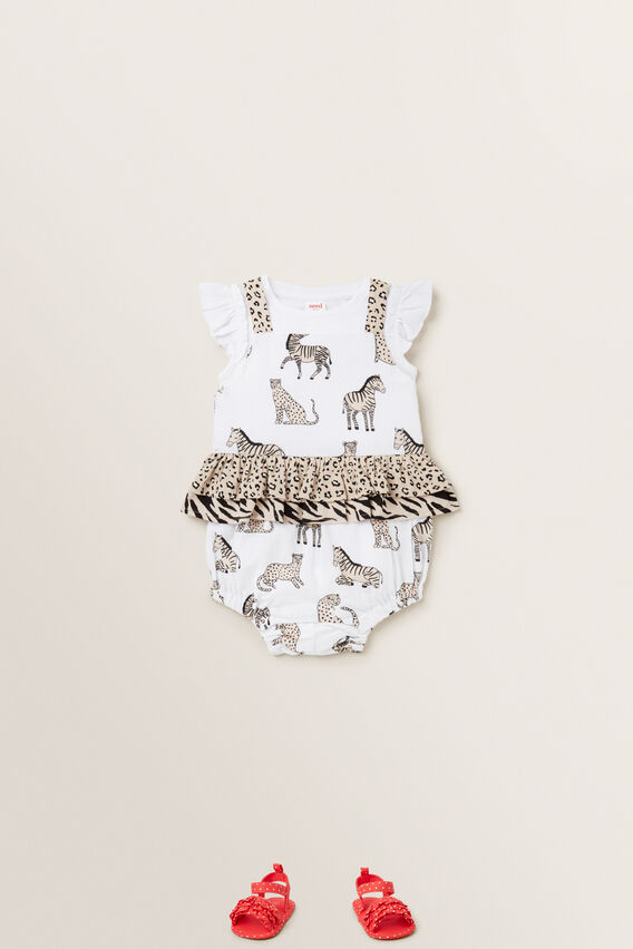 Spliced Animal Romper  MULTI  hi-res