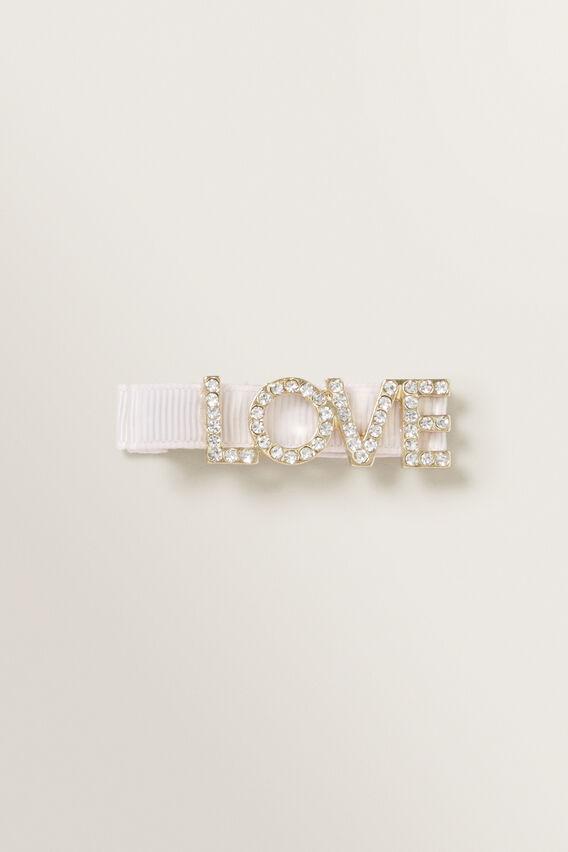 Diamante Love Duck Clip  LOVE  hi-res
