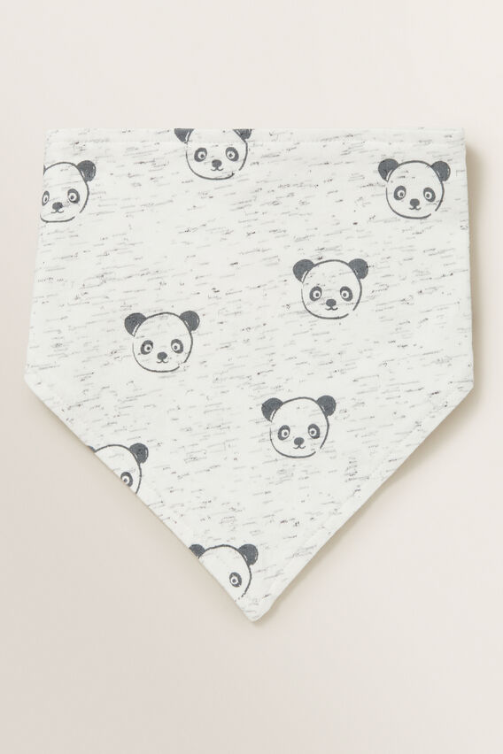 Panda Bandana Bib  CANVAS SPACE DYE  hi-res