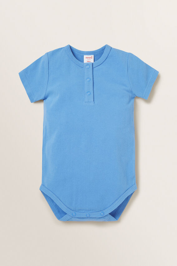 Henley Bodysuit  CORNFLOWER BLUE  hi-res